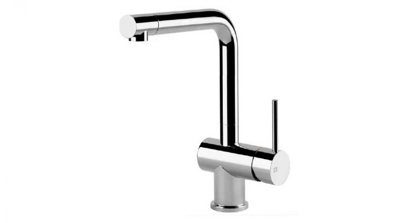 Brushed Steel Kitchen Taps and Mixers